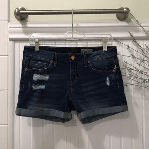 Aeropostale Distressed Midi Shorts
